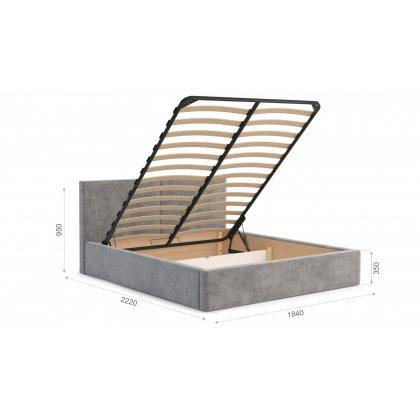 """Мягкая кровать """"Фернандо"""" с подъемным механизмом"""
