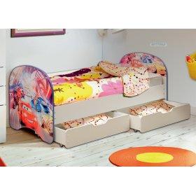 Кровать детская с фотопечатью с 2-мя ящиками
