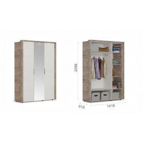 """Шкаф 3-х дверный """"Джулия"""" 1 зеркало"""
