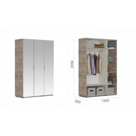 "Шкаф 3-х дверный ""Джулия"" с зеркалами"